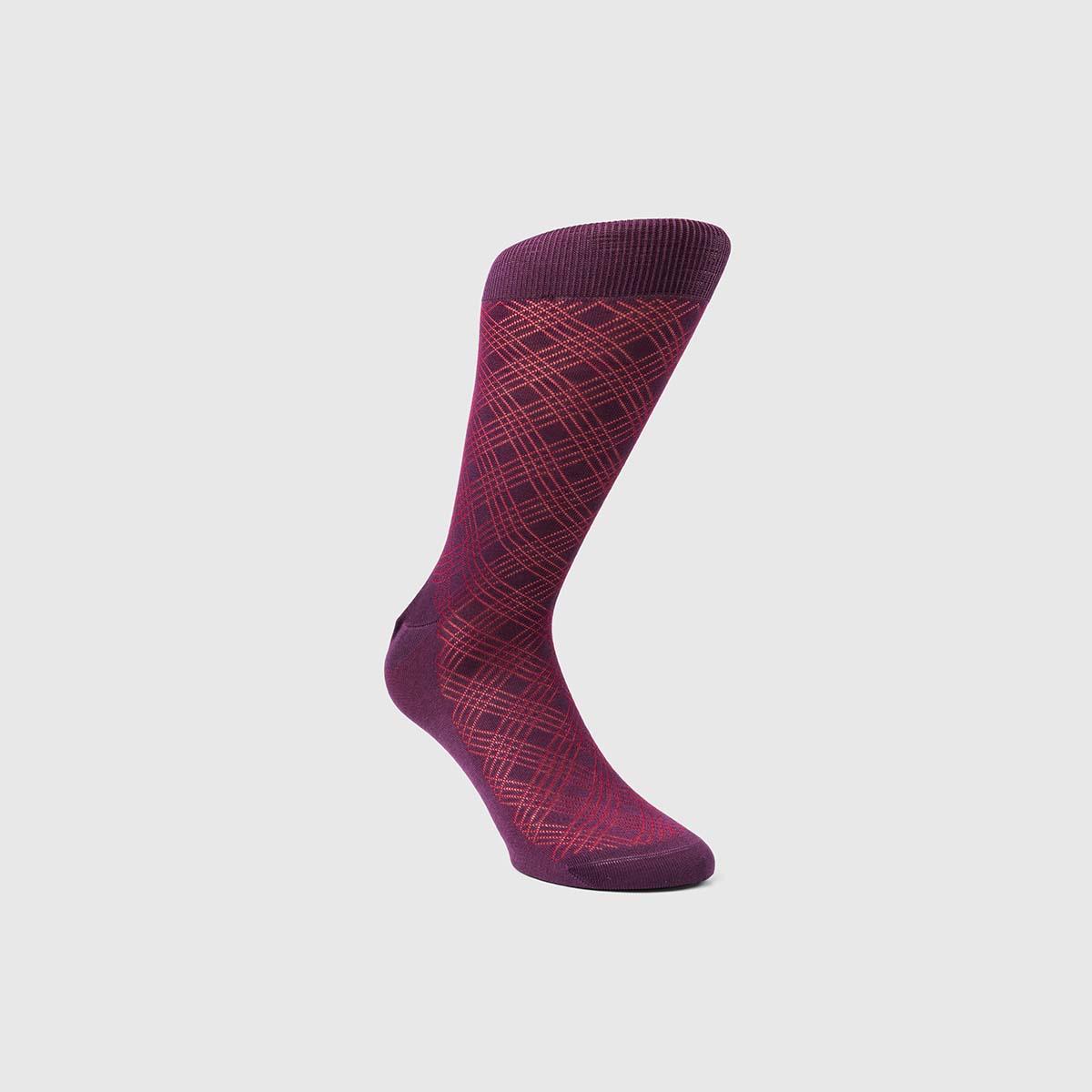Bresciani 1970 Cotton Socks in Red Violet