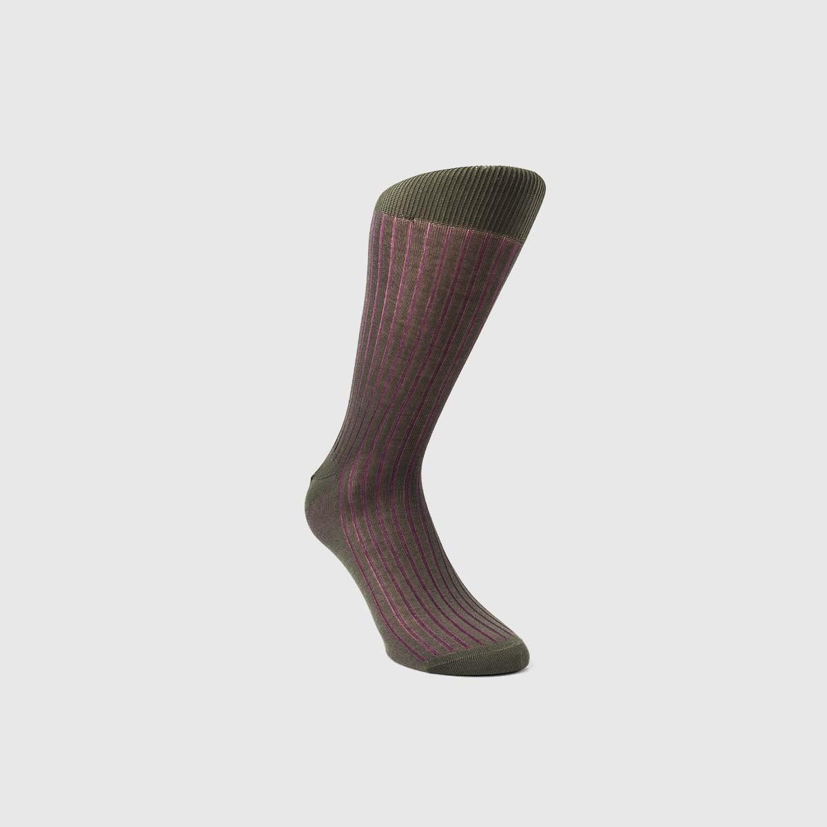 Bresciani 1970 Cotton Socks in Purple Moss