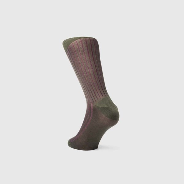 Bresciani 1970 Cotton Socks in Purple Moss