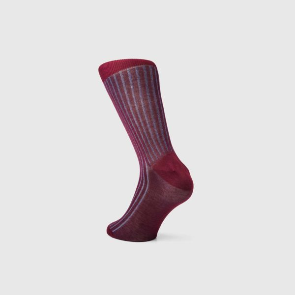 Bresciani 1970 Cotton Socks in Ruby & Cornflower