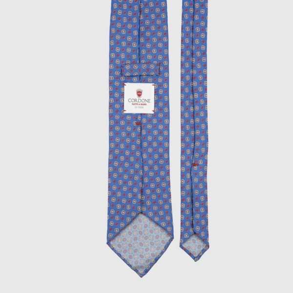 Traditional Three Fold Necktie in Blue