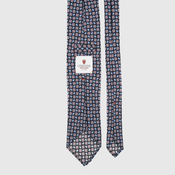Traditional Three Fold Necktie in Midnight