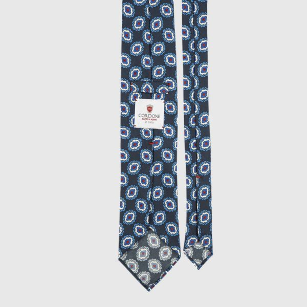Ivy League Three Fold Necktie in Blue & Azure