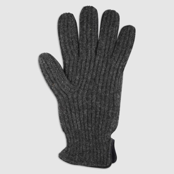 Double Layered Cashmere Glove in Antracite