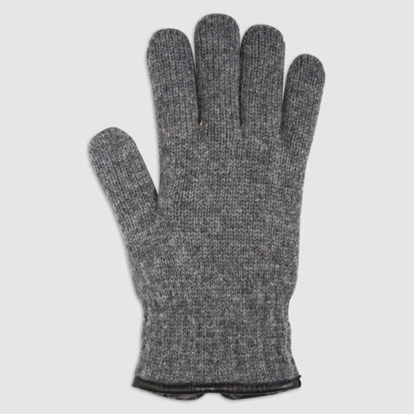 Guanto in lana con fodera in pelliccia ecologica