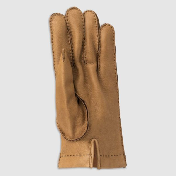 Hand Stitched Deer Leather Glove with Cashmere Lining