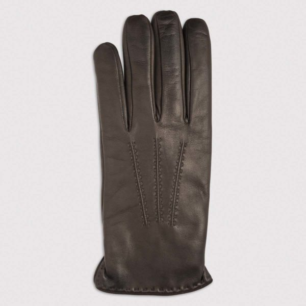 Nappa Leather Glove with Cashmere Lining in Mocca