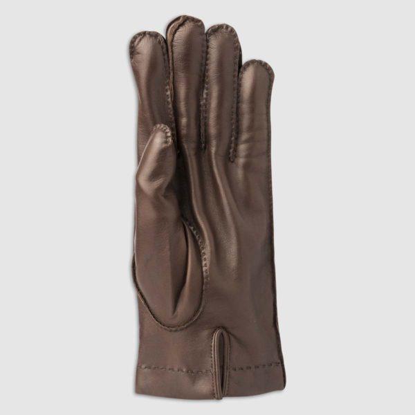 Guanto in nappa cucita a mano con fodera in cashmere