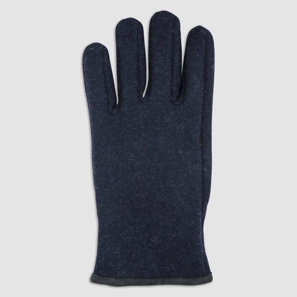 Guanto di lana blu