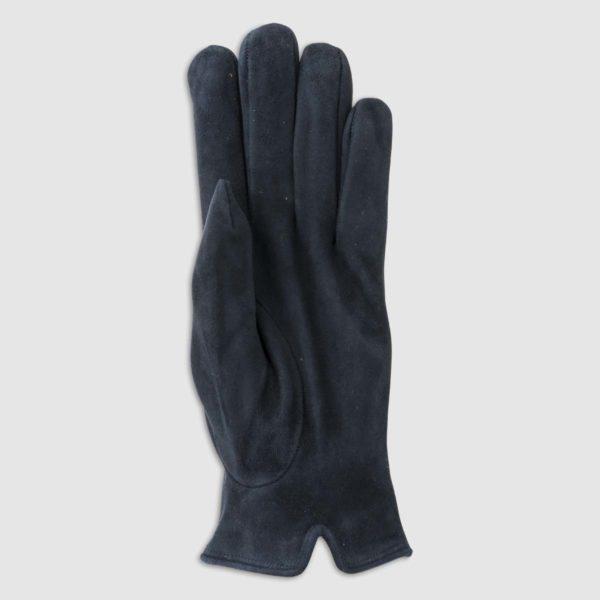 Guanto scamosciato con fodera in lana blu
