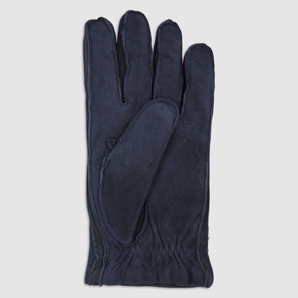Suede Glove with Cashmere Lining in Blue