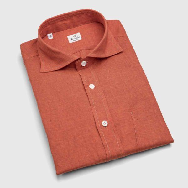 Sartoria Iervolino Cotton Dress Shirt in Cobalt