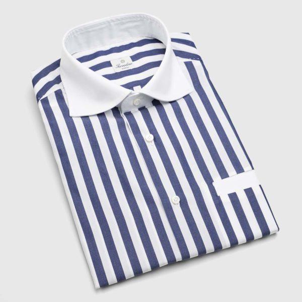 Camicia in Cotne a righe blu