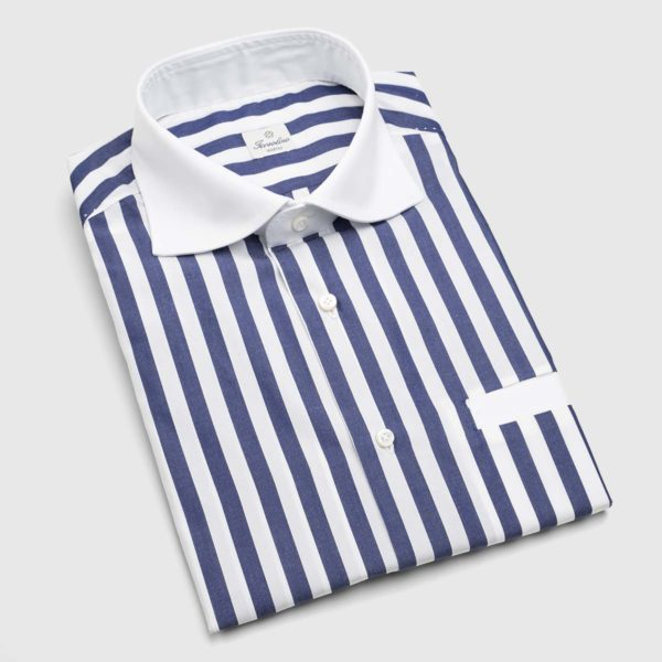 Sartoria Iervolino Dress Shirt in Atlantic Stripe