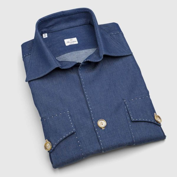 Camicia Safari in cotone Denim