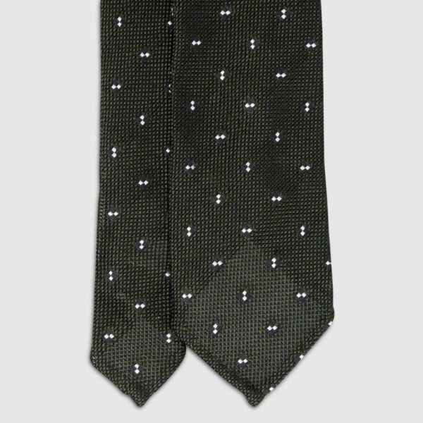 Green with Dots Grenadine Silk Tie