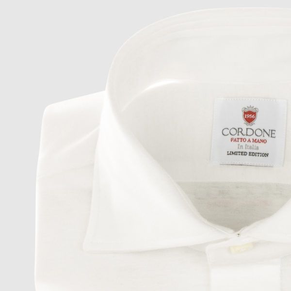 Cordone White Cotton Shirt