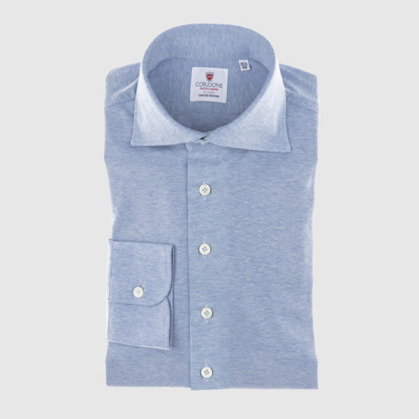 Cordone Azure Cotton Shirt