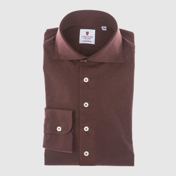 Cordone Bordeaux Cotton Shirt