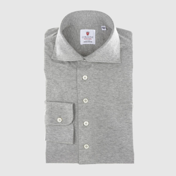 Cordone Gray Cotton Shirt