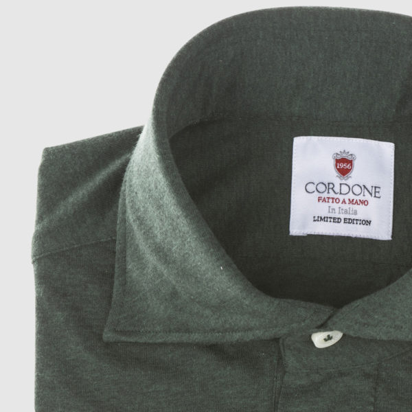 Cordone Dark Green Cotton Shirt
