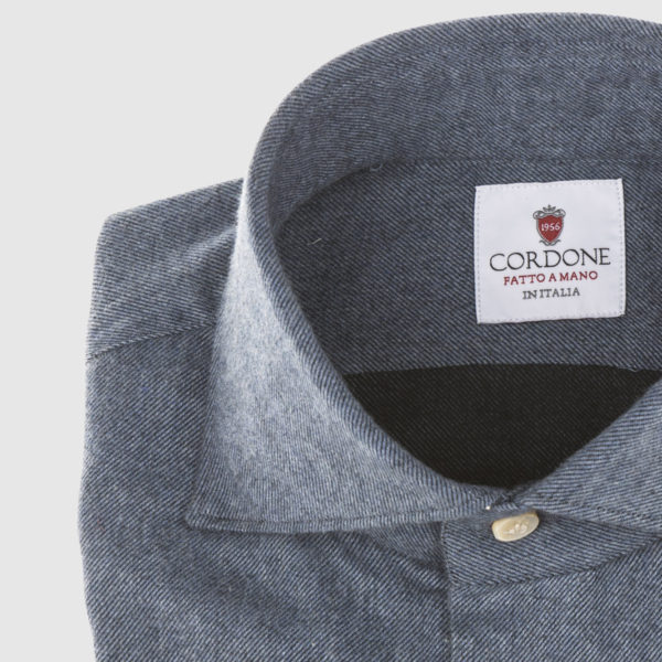 Cordone Blue Flannel Shirt