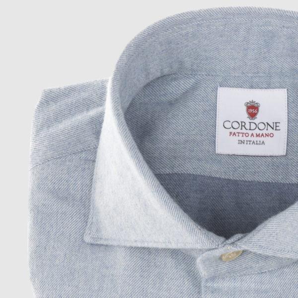 Camicia Cordone in Flanella Azzurra
