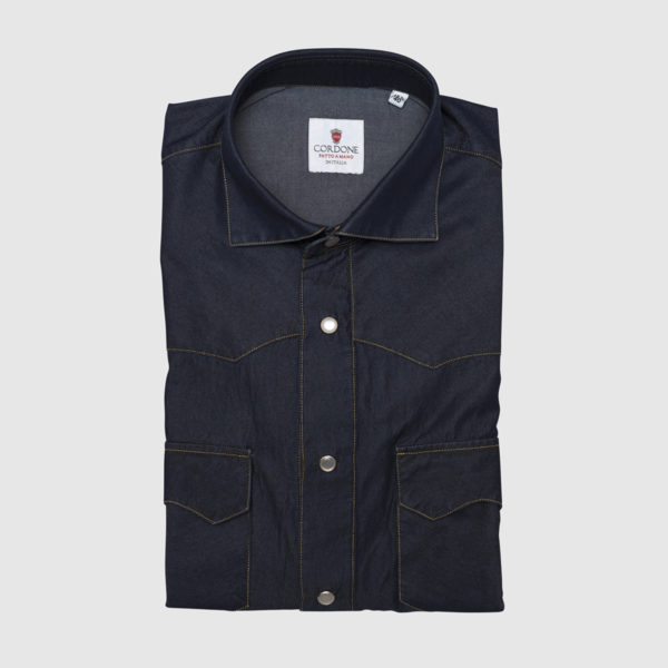 Cordone Denim Shirt with Frontal pockets
