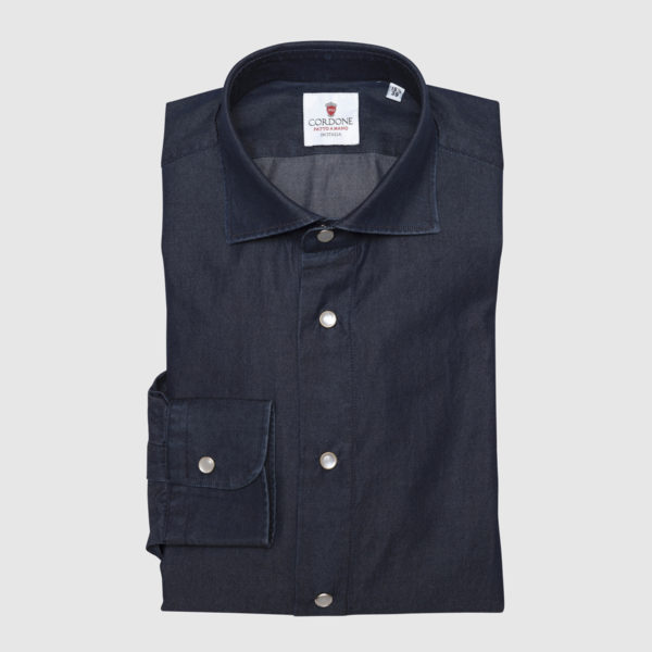Cordone Dark Denim Shirt