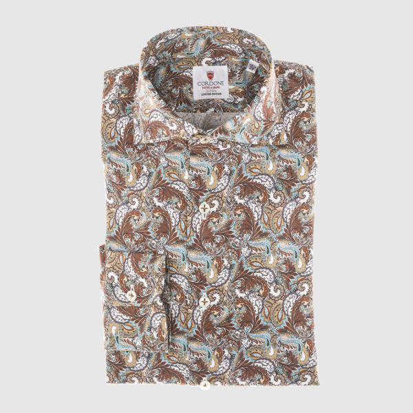 Camicia in Cotone fantasia multicolor
