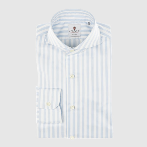 Cordone Celestial Striped Cotton Shirt
