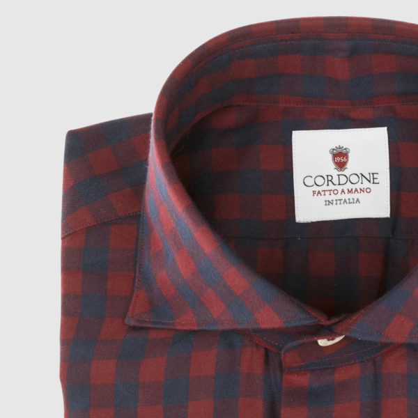 Blue and Red Plaid Cotton Shirt