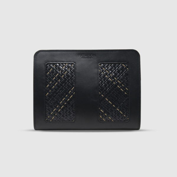 Athison Black Leather Pouch
