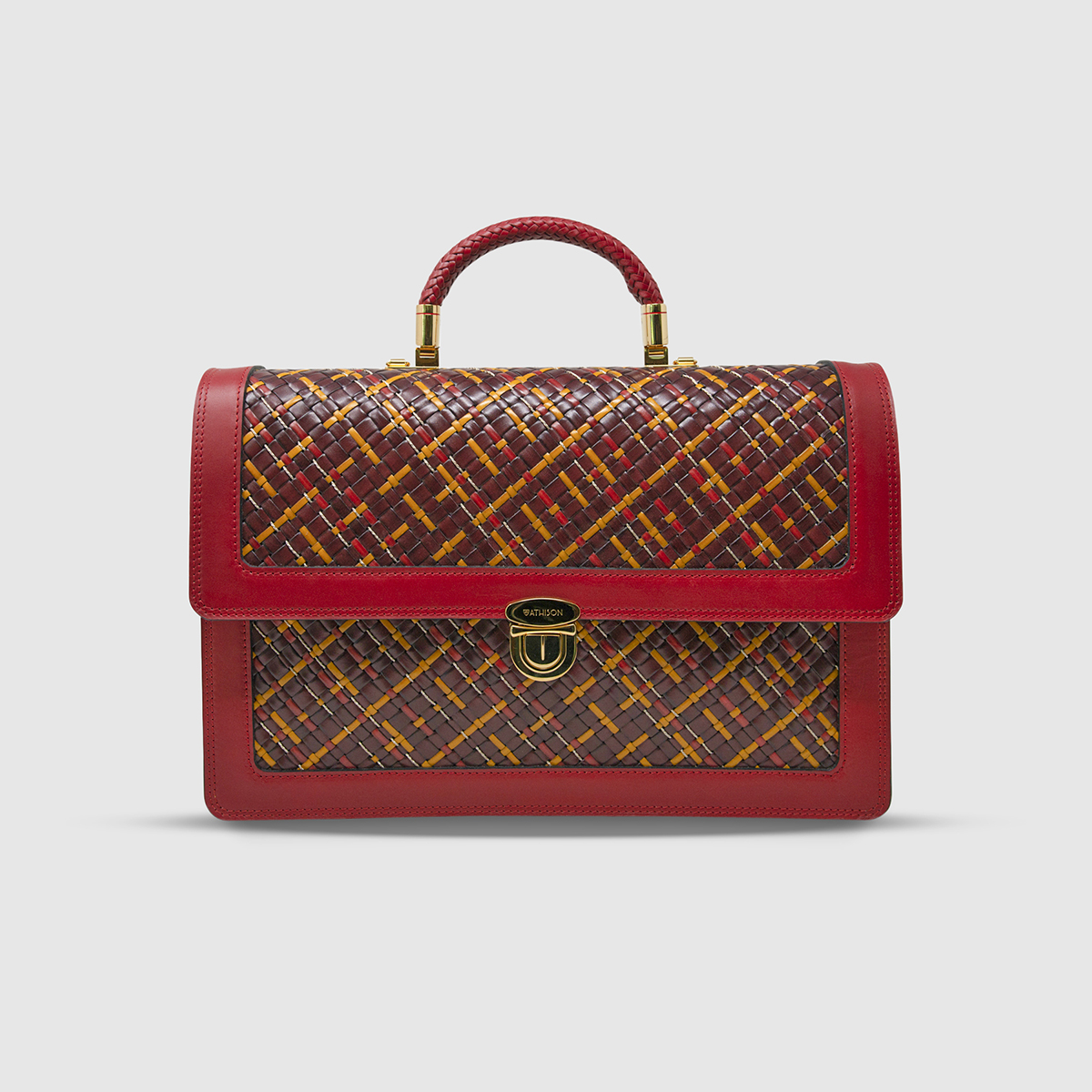 Briefcase Athison in Pelle