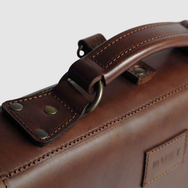 Borsa Briefcase in cuoio Havana