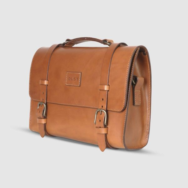Borsa Briefcase in Cuoio Marrone The Dust Company