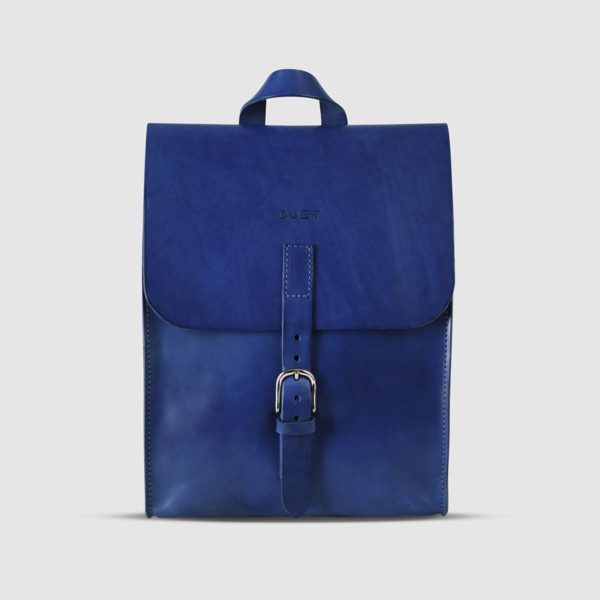 Zaino in Cuoio Blu The Dust Company