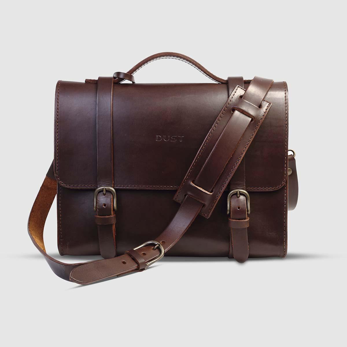 Borsa briefcase  in Cuoio Havana The Dust Company