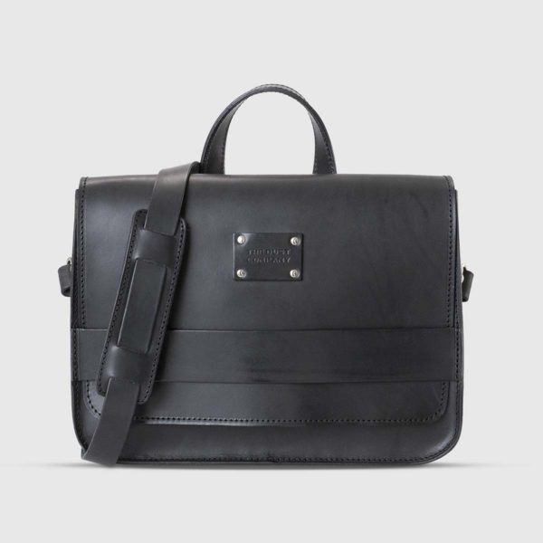 Borsa a tracolla moderna in Cuoio Nero The Dust Company