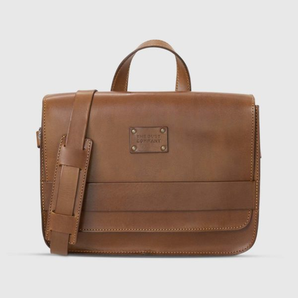 Borsa a tracolla moderna in Cuoio Marrone The Dust Company