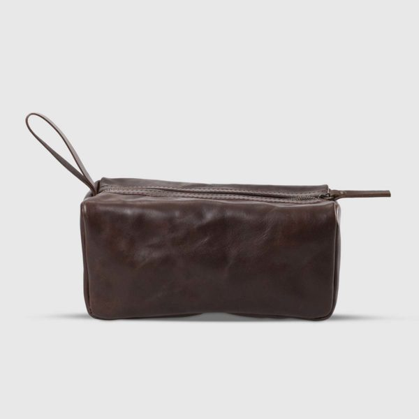 The Dust Company Vagabond Leather Dopp Kit