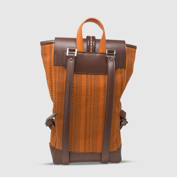 Athison Brown/Orange Backpack