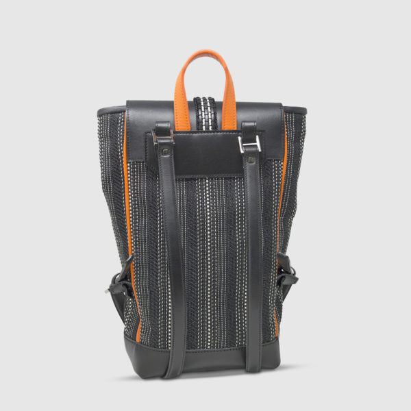 Athison Black/Orange Backpack