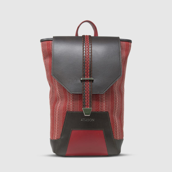 Athison Red/Brown Backpack