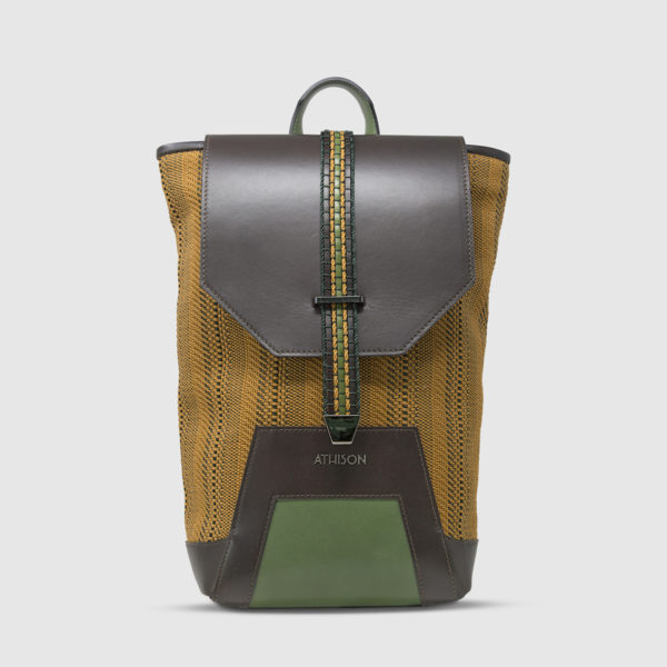Athison Green/Gold Backpack