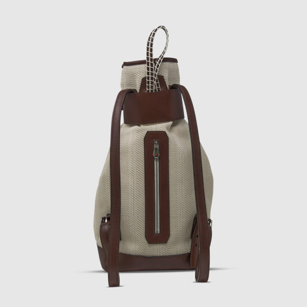 Athison Gray/Brown Alight Backpack