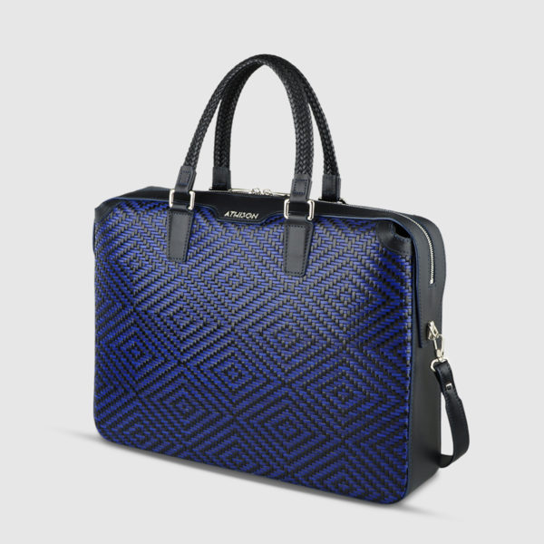 Athison Blue/Black Leather Bag