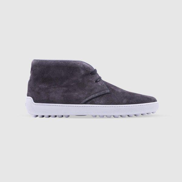 Grey desert boots in suede