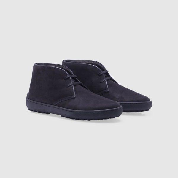 Black desert boots in nubuck