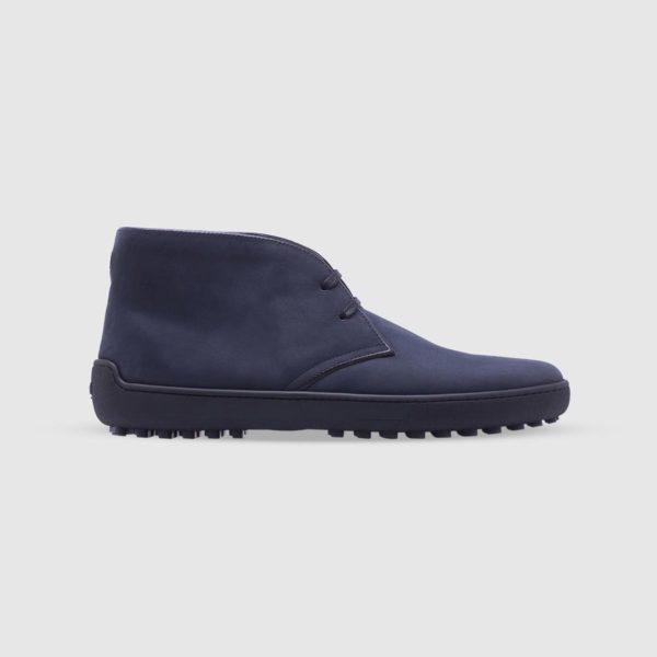 Blue desert boots in nubuck